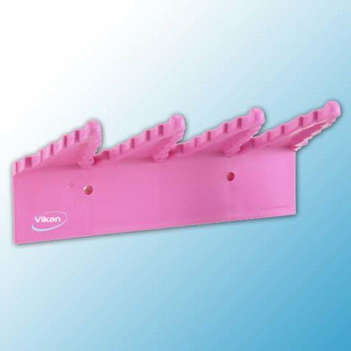 Настенный держатель для инвентаря, 240 мм, Розовый