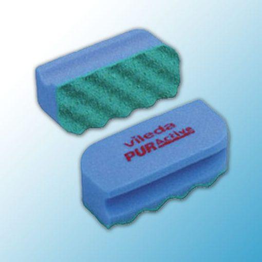 Губка Профи с системой ПурАктив 6,3х14х4,5 см голубая