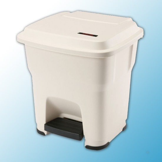ГЕРА контейнеры мусорные с педалью бежевый 35 литров