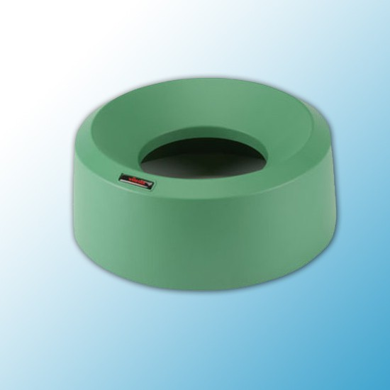 Крышка для контейнера Ирис воронкообразная круглая зеленая
