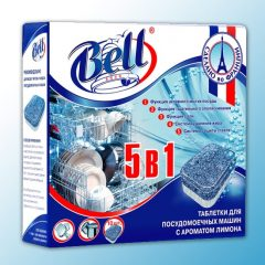 AquaBELL. Таблетки для посудомоечных машин 5 в 1, 10 шт.