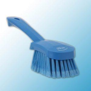 Щетка для мытья с короткой ручкой, 270 мм, мягкий/расщеплённый ворс, синий цвет