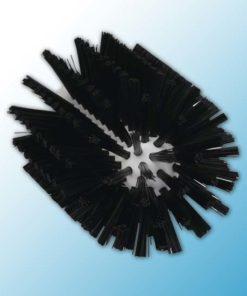 Щетка-ерш для очистки труб, гибкая ручка, Ø90 мм, средний ворс, черный цвет
