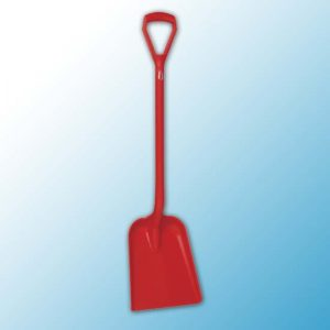 Лопата, 327 x 271 x 50 мм., 1040 мм, красный цвет
