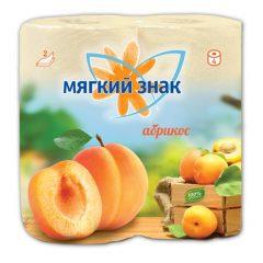 """Бумага туалетная """"Мягкий знак"""" Deluxe Aroma Абрикос 2-х сл. 4 рул.x24, оранжевая ароматизированная"""