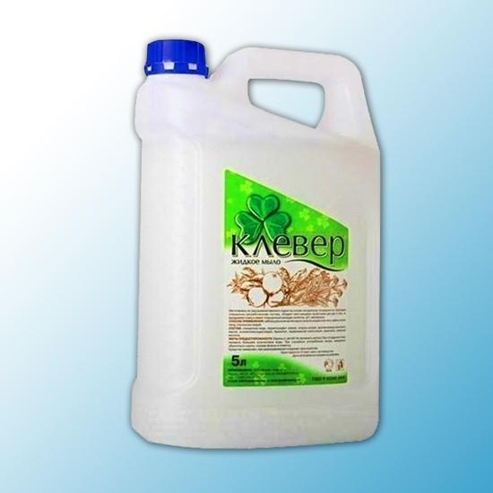 """Жидкое мыло Клевер перламутровое """"Целебные травы"""" 5 л"""