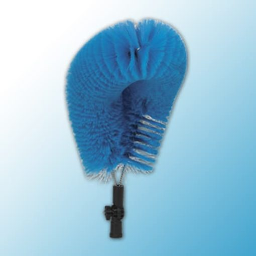 Ерш для очистки внешних поверхностей труб, 530 мм, мягкий ворс, синий цвет