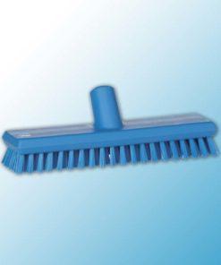 Щетка скребковая поломойная с подачей воды, 270 мм, Очень жесткий, синий цвет