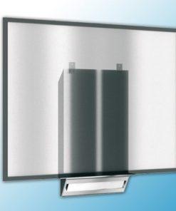 Диспенсер бумажных полотенец, монтируемый на зеркало, матовая сталь