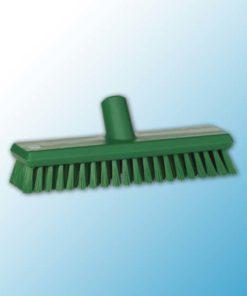 Щетка скребковая поломойная с подачей воды, 270 мм, средний ворс, зеленый цвет