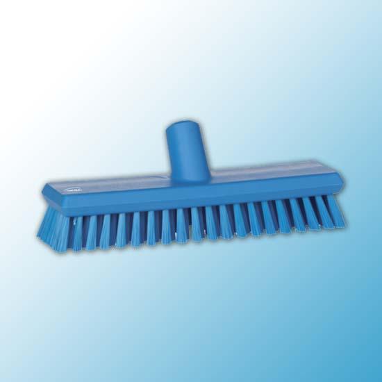 Щетка скребковая поломойная с подачей воды, 270 мм, средний ворс, синий цвет
