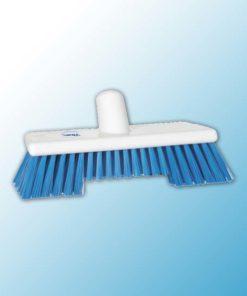 Щетка скребковая поломойная с ворсом двух длин, 245 мм, Жесткий, синий цвет