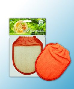 Мочалка-рукавица для тела с манжетой