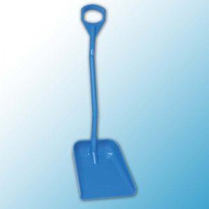 Эргономичная большая лопата с короткой ручкой, 380 x 340 x 90 мм., 1140 мм, синий цвет