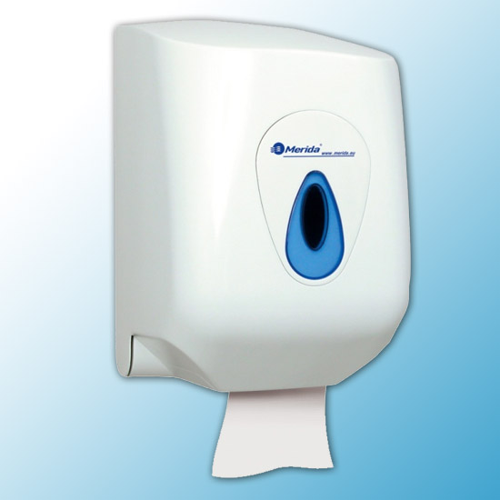 """Кассета-полотенцедержатель бумажных полотенец в рулонах """"MAXI MERIDA TOP""""(синяя капля)"""