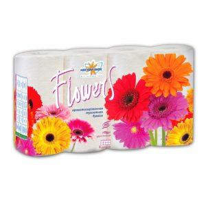 """Бумага туалетная """"Мягкий знак"""" Deluxe Aroma Flowers 2-х сл. 8 рул.x7, белая"""