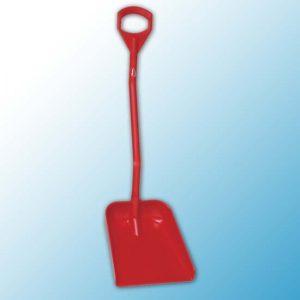 Эргономичная большая лопата с короткой ручкой, 380 x 340 x 90 мм., 1140 мм, красный цвет