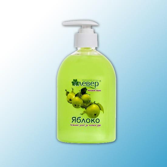 Жидкое мыло Клевер перламутровое,500 мл, Яблоко (насос)