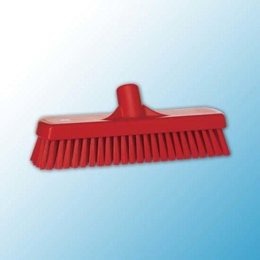 Щетка для мытья полов и стен, 305 мм, Жесткий, красный цвет