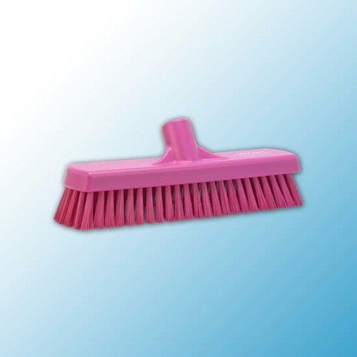Щетка для мытья полов и стен, 305 мм, Жесткий, Розовый