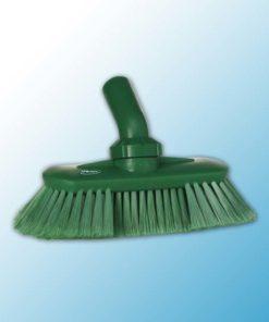 Щетка с подвижным креплением и подачей воды, 240 мм, Мягкий/ расщепленный, зеленый цвет