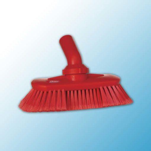 Щетка с подвижным креплением и подачей воды, 240 мм, Мягкий/ расщепленный, красный цвет