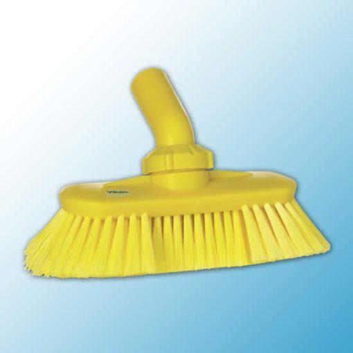 Щетка с подвижным креплением и подачей воды, 240 мм, Мягкий/ расщепленный, желтый цвет