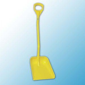 Эргономичная большая лопата с короткой ручкой, 380 x 340 x 90 мм., 1140 мм, желтый цвет