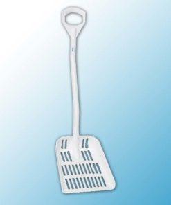 Лопата с перфорированным полотном, 380 x 340 x 90 мм., 1145 мм, белый цвет