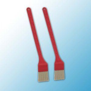 Тонкая тостерная щетка, 2 шт., 395 мм, средний ворс, красный цвет