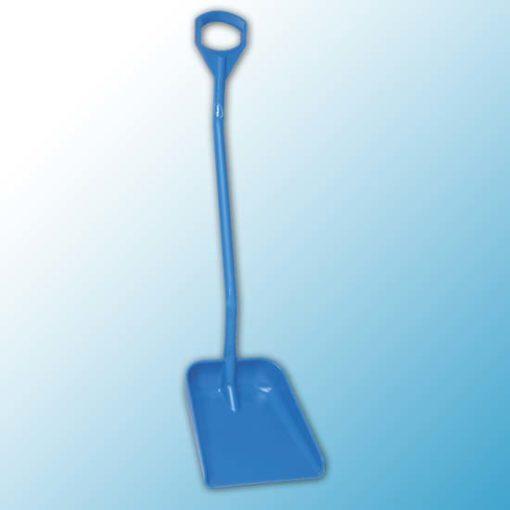 Эргономичная большая лопата с длинной ручкой, 380 x 340 x 90 мм., 1310 мм, синий цвет