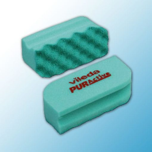 Губка Профи с системой ПурАктив 6,3х14х4,5 см зеленая