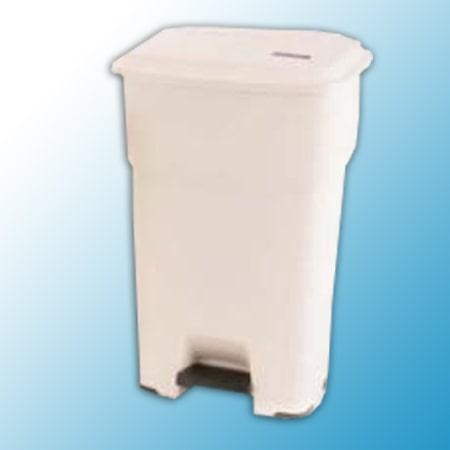 ГЕРА контейнеры мусорные с педалью бежевый 60 литров