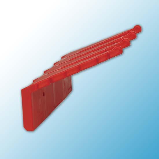 Настенный держатель для инвентаря, 240 мм, красный цвет