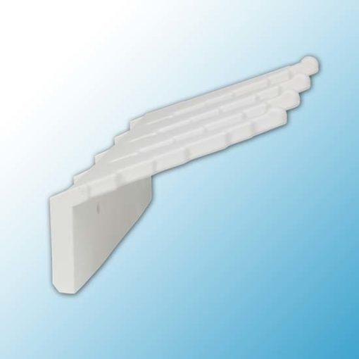Настенный держатель для инвентаря, 240 мм, белый цвет