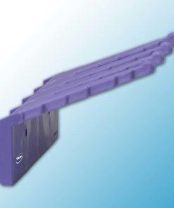 Настенный держатель для инвентаря, 240 мм, фиолетовый цвет