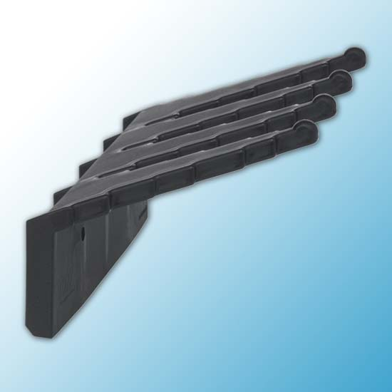 Настенный держатель для инвентаря, 240 мм, черный цвет