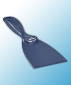 Ручной скребок, металлодетектируемый, 75 мм, металлизированный синий цвет