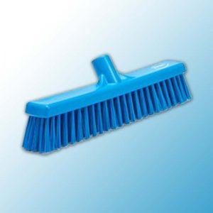 Щетка для подметания с комбинированным ворсом, 410 мм, Мягкий/жесткий, синий цвет