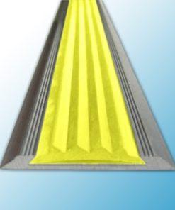 SA4 - Алюминиевая противоскользящая накладка на ступени с желтой резиновой вставкой