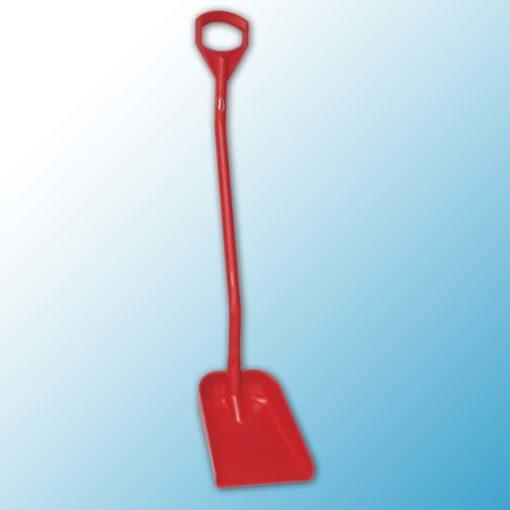 Эргономичная лопата, 340 x 270 x 75 мм., 1280 мм, красный цвет