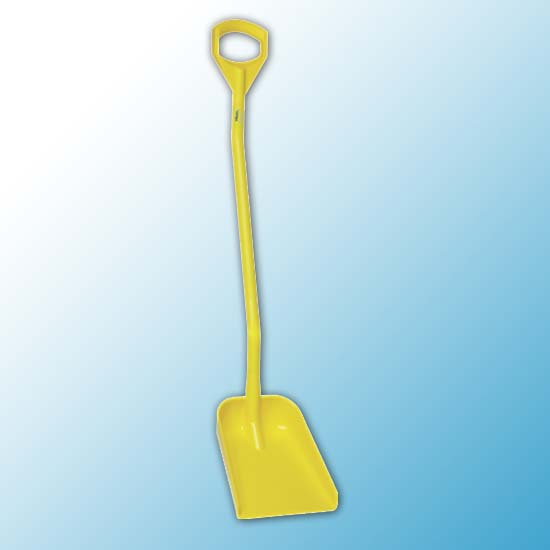 Эргономичная лопата, 340 x 270 x 75 мм., 1280 мм, желтый цвет