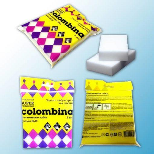 Super очищающая меламиновая губка «colombina»