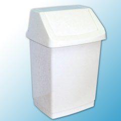 Корзина пластиковая с поворотной крышкой (15 л.)