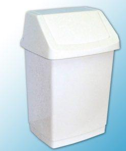 Корзина пластиковая с поворотной съёмной крышкой 25 л