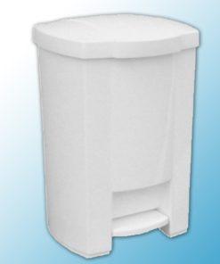 Корзина с открывающейся крышкой для мусора с педалью (20л)