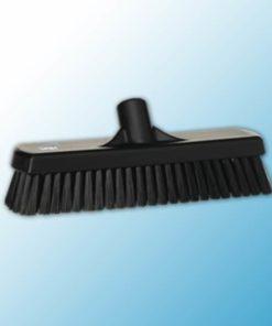 Щетка для мытья полов и стен, 305 мм, жёсткий ворс, черный цвет