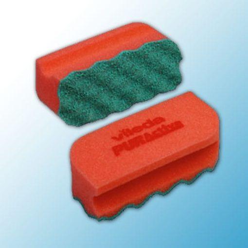 Губка Профи с системой ПурАктив 6,3х14х4,5 см красная