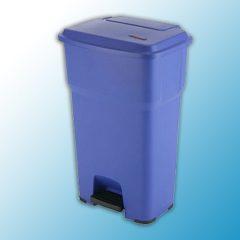ГЕРА контейнеры мусорные с педалью голубой синий 60 литров