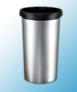 ирис контейнер пластиковый с металлическим покрытием круглый